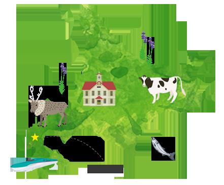 せたな町は北海道の道南に位置する農業と漁業の町
